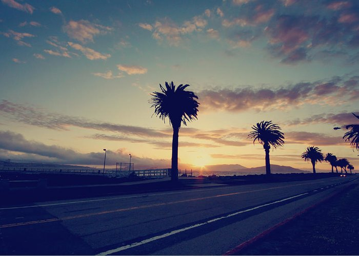 Treasure Island Greeting Card featuring the photograph Sunset Drive by Laurie Search