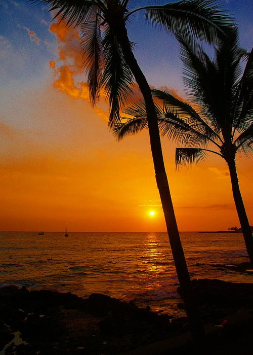 Sunset Greeting Card featuring the photograph Sunset In Paradise by Athala Carole Bruckner