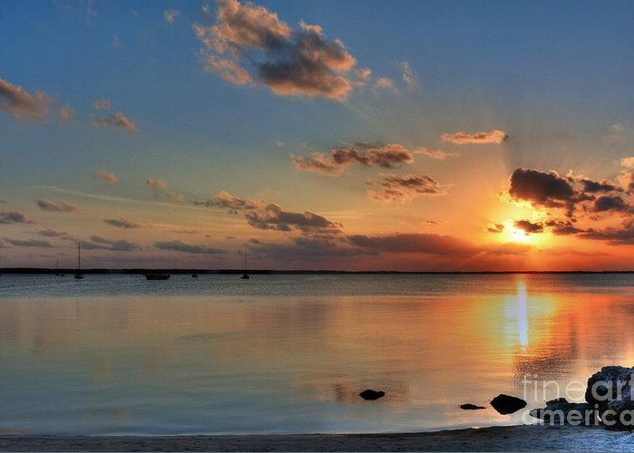 Sunset On Key Largo Greeting Card featuring the photograph Sunset On Key Largo by Mel Steinhauer