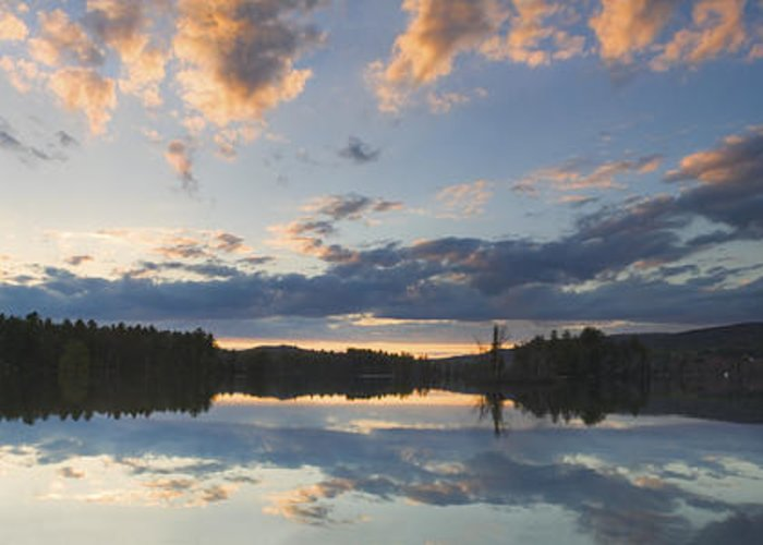 Vienna Greeting Card featuring the photograph Sunset Over Flying Pond In Vienna Maine by Keith Webber Jr
