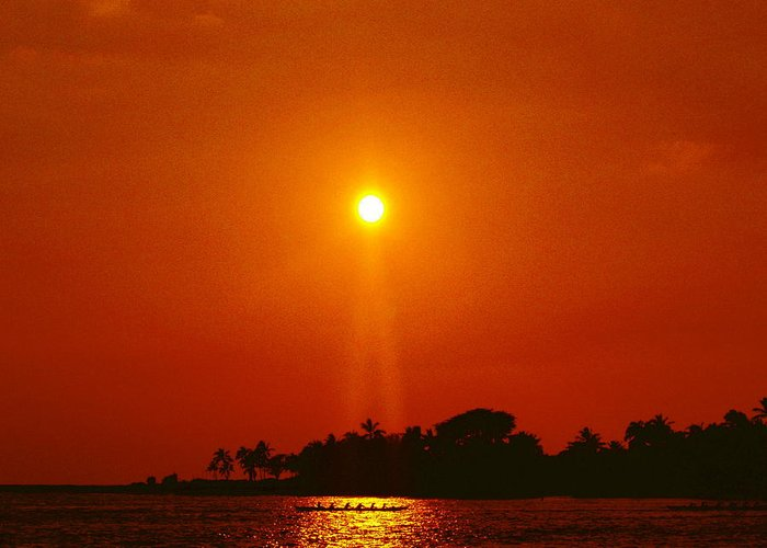 Sunset Pictures Greeting Card featuring the photograph Sunset Ride by Athala Carole Bruckner