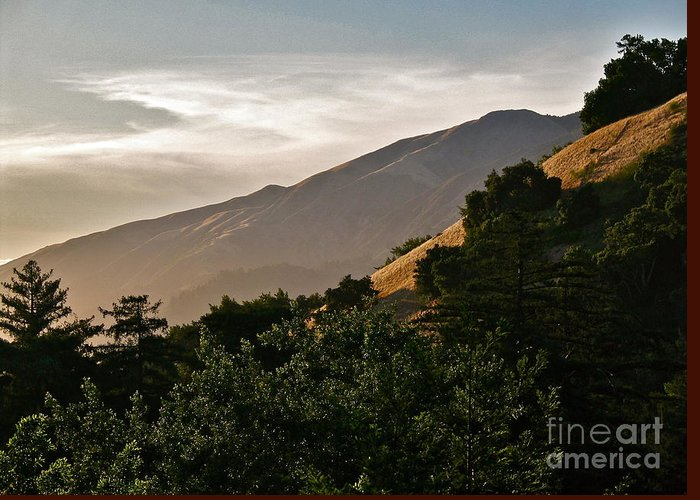 Landscape Greeting Card featuring the photograph Sunswept by Maureen J Haldeman