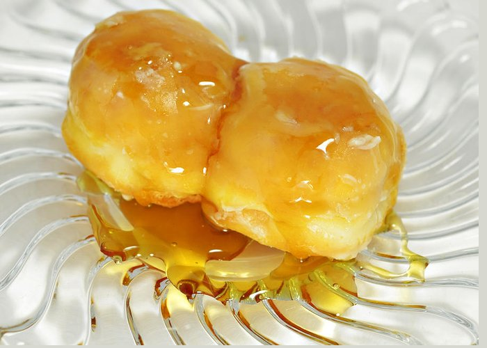 Food Greeting Card featuring the photograph Sweet Pastry Donut by Susan Leggett