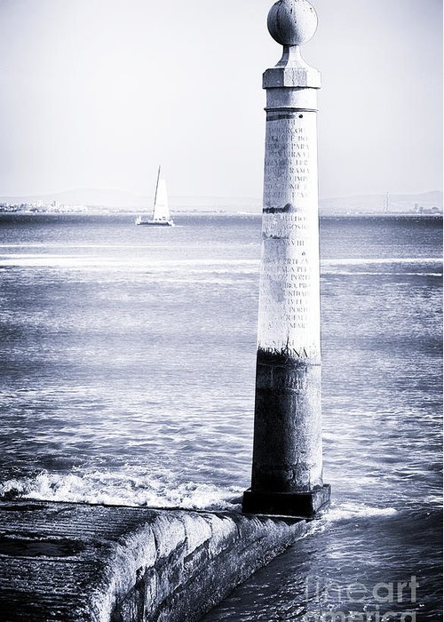 Tagus River View Greeting Card featuring the photograph Tagus River View by John Rizzuto