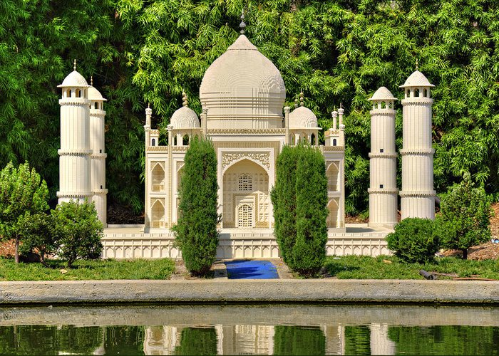 Taj Greeting Card featuring the photograph Taj Mahal by Ricky Barnard