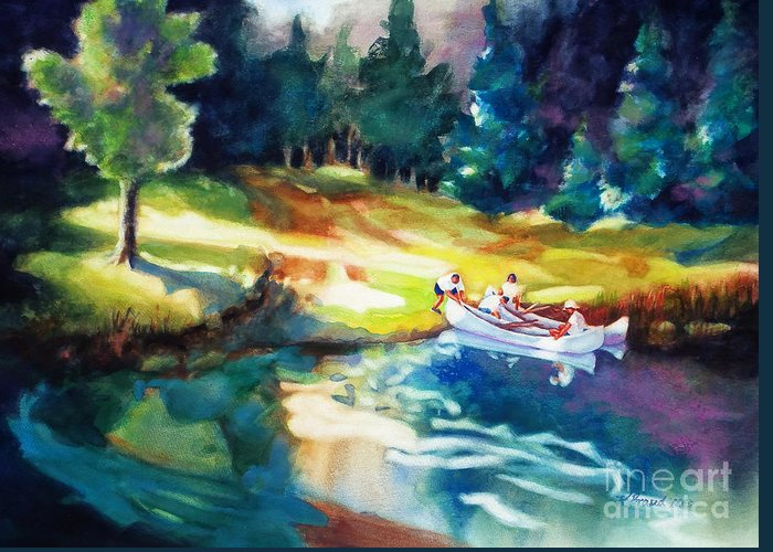 Painting All Greeting Card featuring the painting Taking A Break 2 by Kathy Braud