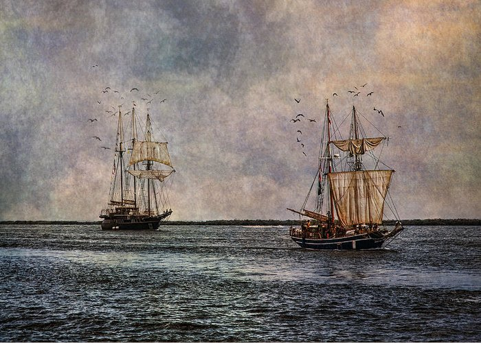 Tall Ships Greeting Card featuring the photograph Tall Ships by Dale Kincaid