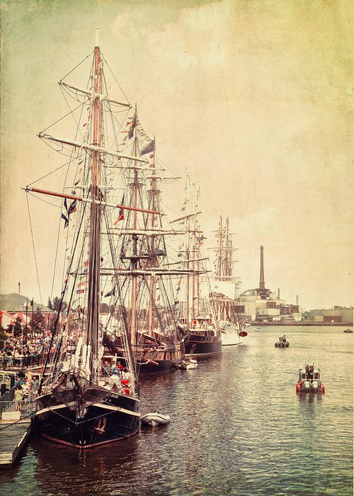 Tall Ships Greeting Card featuring the photograph Tall Ships by Joel Witmeyer
