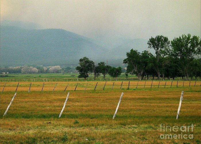 Taos Greeting Card featuring the photograph Taos Fields by Steven Ralser