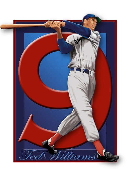 Ted Williams Greeting Card by Ron Regalado