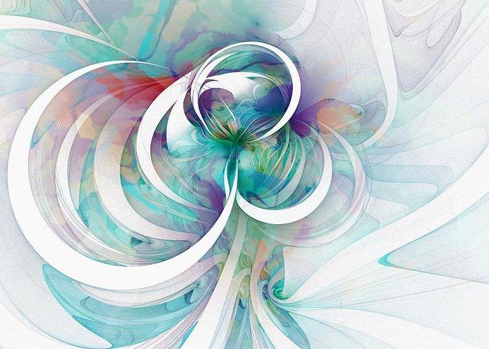 Digital Art Greeting Card featuring the digital art Tendrils 03 by Amanda Moore