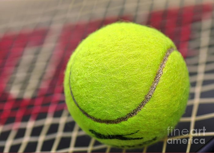 Photography Greeting Card featuring the photograph Tennis Anyone... by Kaye Menner