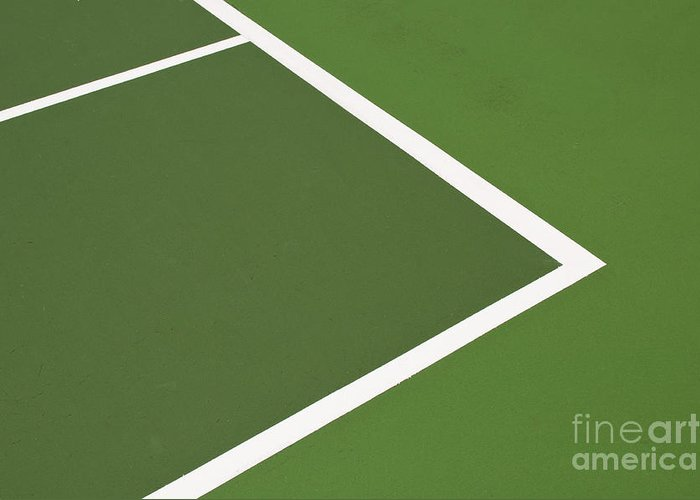 Tennis Greeting Card featuring the photograph Tennis Court by Luis Alvarenga