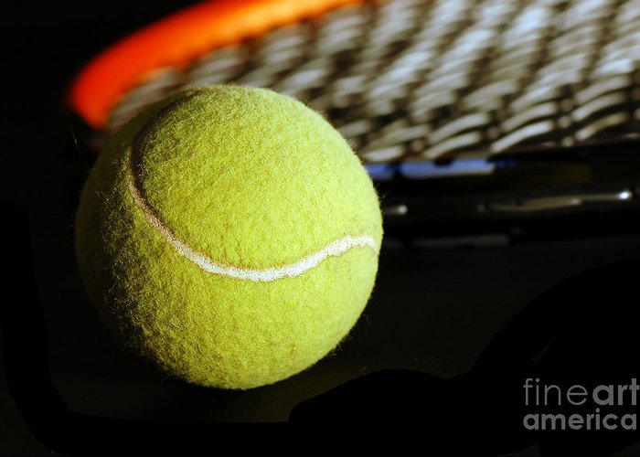 Accessory Greeting Card featuring the photograph Tennis Equipment by Michal Bednarek