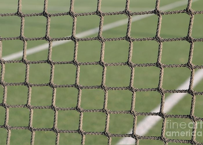 Net Greeting Card featuring the photograph Tennis Net by Luis Alvarenga