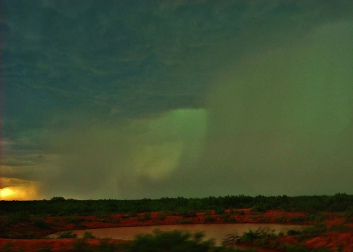 Texas Greeting Card featuring the photograph Texas Microburst by Ed Sweeney
