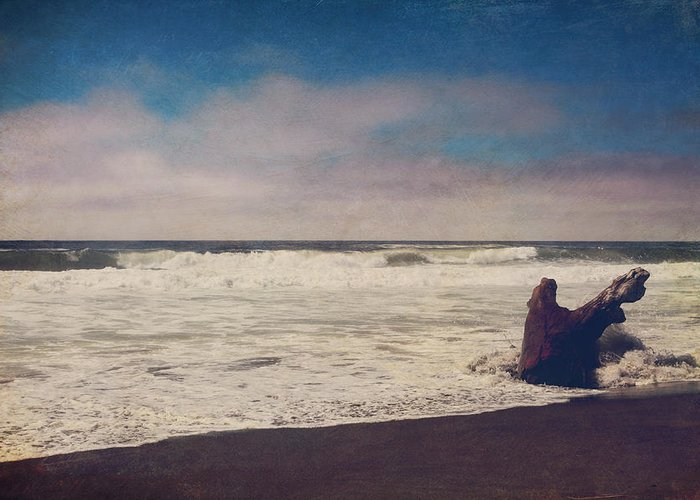 Manchester State Beach Greeting Card featuring the photograph That Dirty Game Recaptures Me by Laurie Search