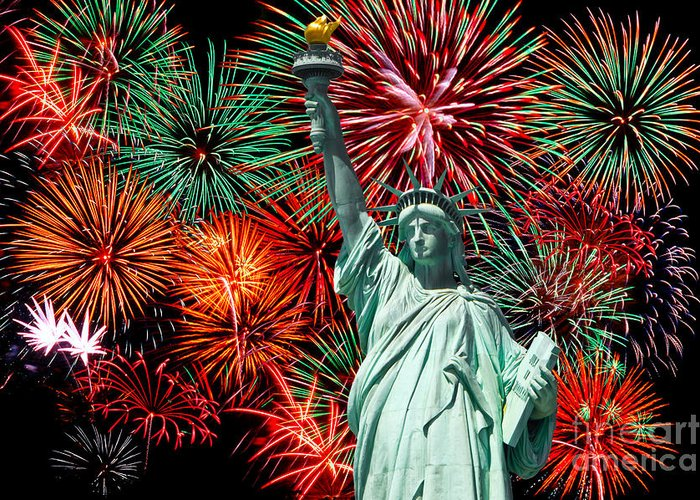 Nyc Greeting Card featuring the photograph The 4th Of July by Anthony Sacco