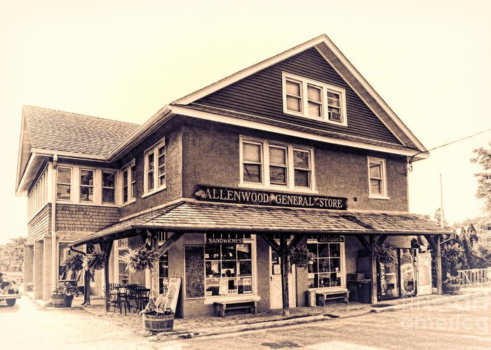 Allenwood General Store Greeting Card featuring the photograph The Allenwood General Store by Olivier Le Queinec