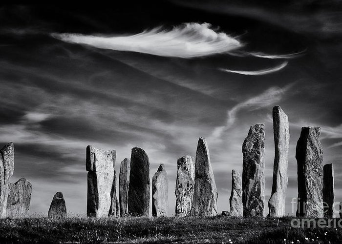 Callanish Greeting Card featuring the photograph The Angel Of Callanish by Tim Gainey