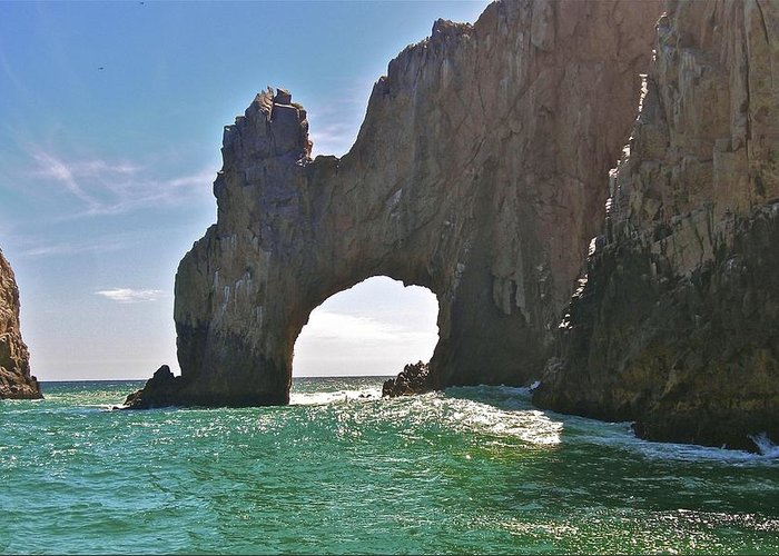 The Arch Greeting Card featuring the photograph The Arch Lands End Cabo San Lucas by Jennifer Lamanca Kaufman