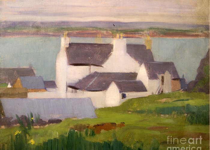 Cadell Greeting Card featuring the painting The Artists Studio Iona by Francis Campbell Boileau Cadell