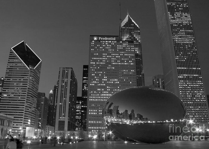 The Bean Greeting Card featuring the photograph The Bean by Timothy Johnson