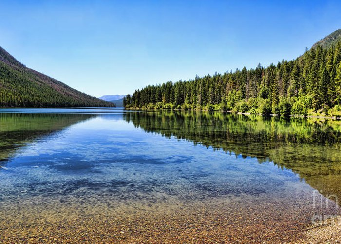 Kintla Lake Greeting Card featuring the photograph The Best Beach In Glacier National Park Panorama 2 by Scotts Scapes