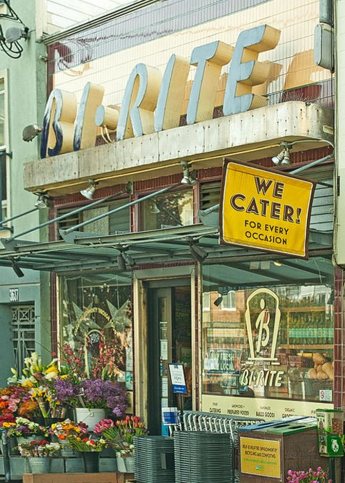 The Bi Rite In San Francisco Greeting Card featuring the photograph The Bi Rite In San Francisco by Artist and Photographer Laura Wrede