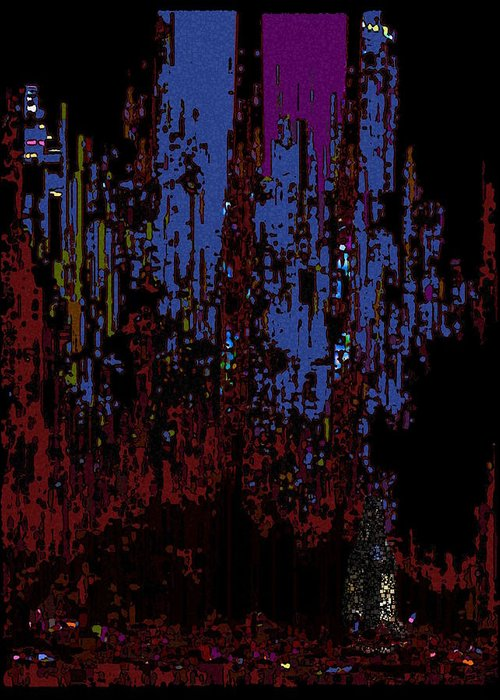 Abstract Greeting Card featuring the digital art The Binge by Tim Allen