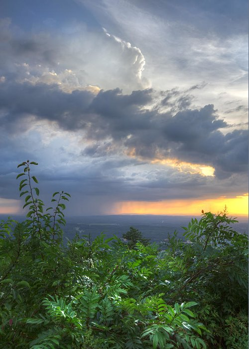 Appalachia Greeting Card featuring the photograph The Blue Ridge Mountains by Debra and Dave Vanderlaan