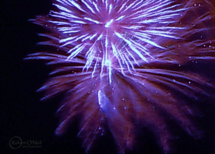 4th Of July Greeting Card featuring the photograph The Bombs Bursting In Air by Robert ONeil