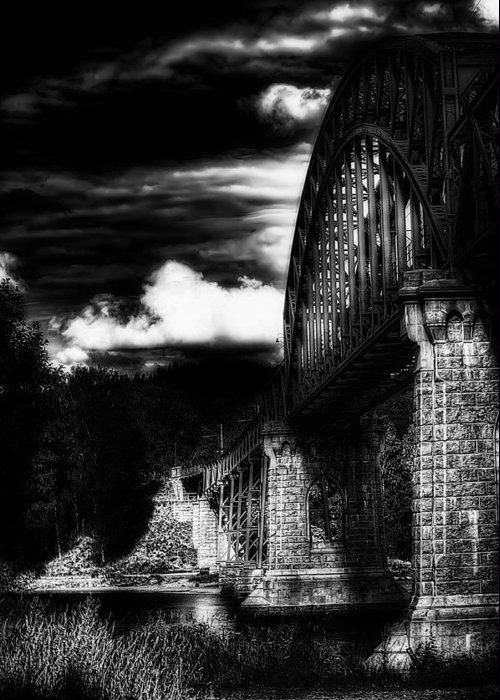 Nature Greeting Card featuring the photograph The Bridge by Erik Brede