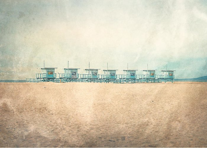 Venice Beach Greeting Card featuring the photograph The Cabins by Nastasia Cook