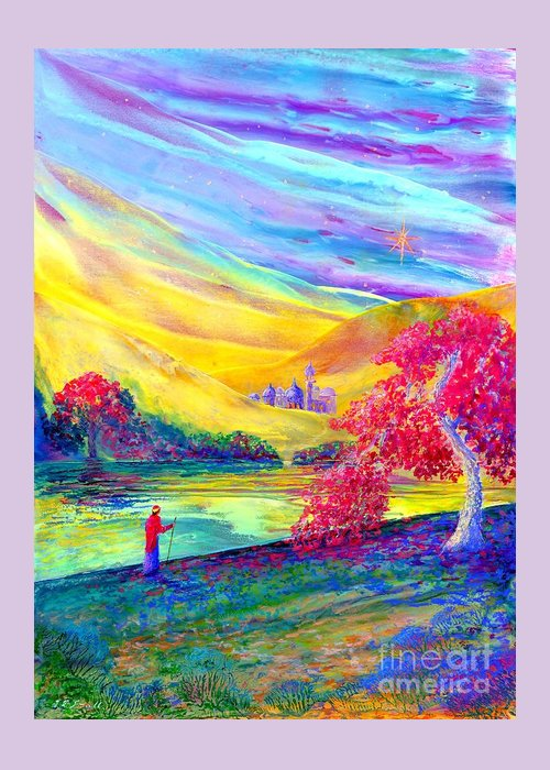 Traveller Greeting Card featuring the painting The Calling by Jane Small