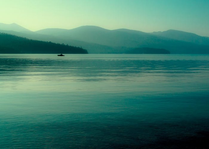Boathouse Greeting Card featuring the photograph The Calmness Of Priest Lake by David Patterson