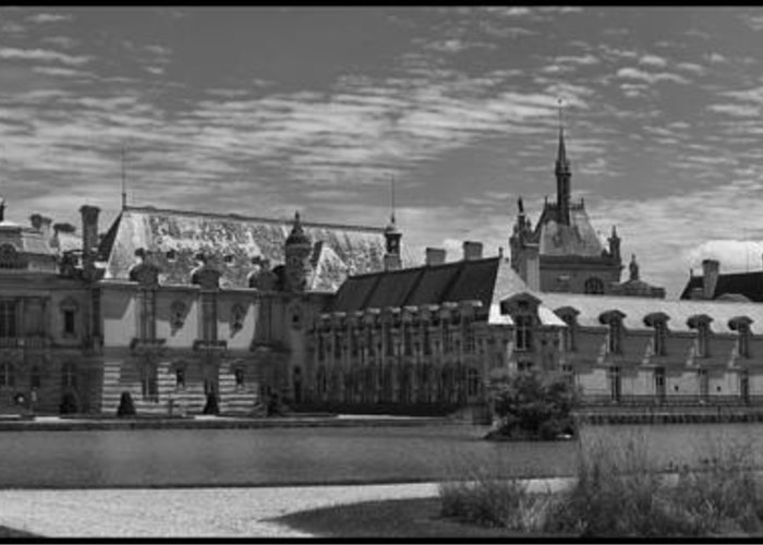 Chantilly Greeting Card featuring the photograph The Chateau by Maj Seda
