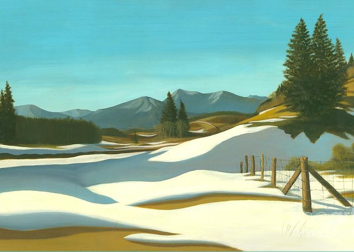 Chinook Wind Greeting Card featuring the painting The Chinook Wind Blows by Michael Swanson