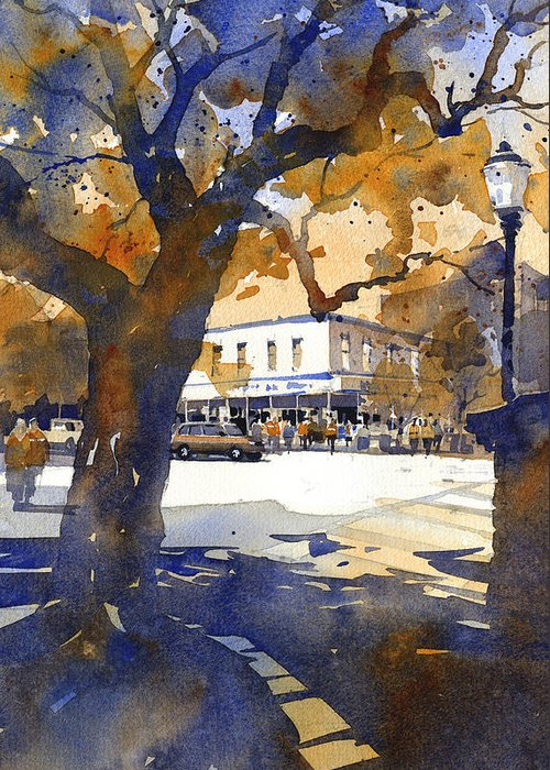 Toomers Oaks Greeting Card featuring the painting The College Street Oak by Iain Stewart