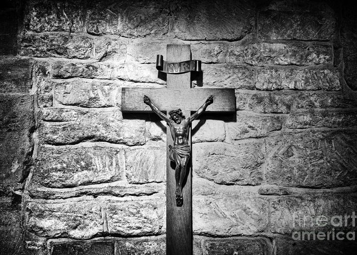 Jesus Greeting Card featuring the photograph The Cross by Tim Gainey