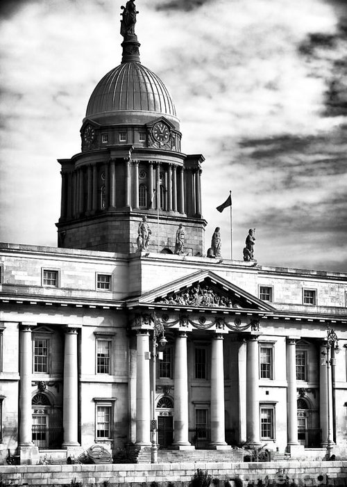 The Custom House Greeting Card featuring the photograph The Custom House by John Rizzuto