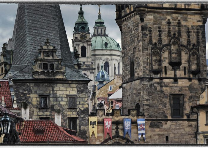 Ancient Greeting Card featuring the photograph The Depths Of Prague by Joan Carroll