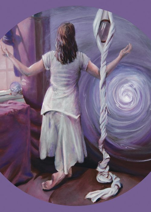 Shelley Irish Greeting Card featuring the painting The Devotee by Shelley Irish