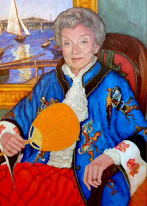 Nancy Roderick Greeting Card featuring the painting The Duchess by Tom Roderick