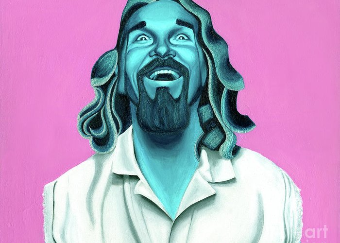 The Dude Paintings Greeting Card featuring the painting The Dude by Ellen Patton