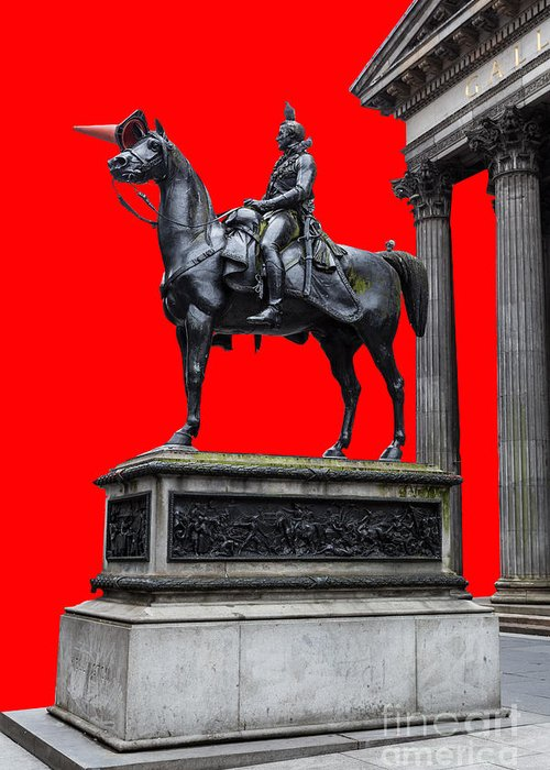 Art Greeting Card featuring the photograph The Duke Of Wellington Red by John Farnan