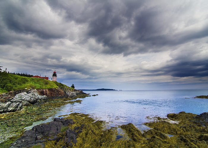 The Greeting Card featuring the photograph The Eastern Most Point In The U.s.a by Mircea Costina Photography