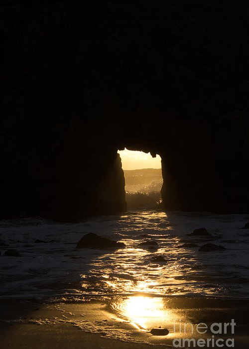 Julia Pfeiffer Beach Greeting Card featuring the photograph The End Of A Day by Suzanne Luft