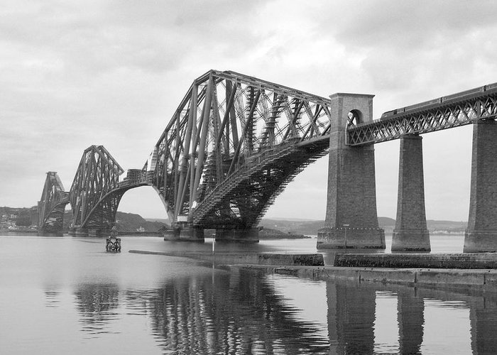 Historic Scotland Greeting Card featuring the photograph The Forth II by Mike McGlothlen