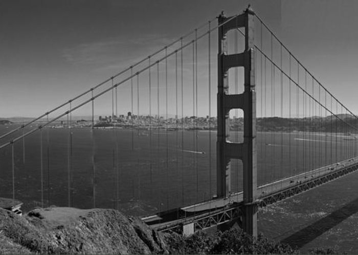 San Francisco Greeting Card featuring the photograph The Golden Gate Bridge by Twenty Two North Photography